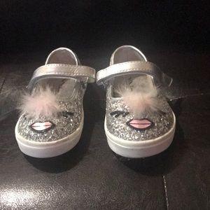 Nina silver glitter shoes